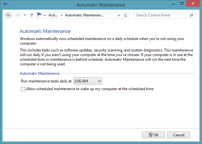 Disable Automatic Maintenance from Waking up computer from s3 sleep