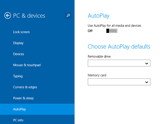 Disable Autoplay or Autrun